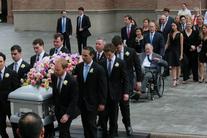 More than 1,000 mourners gathered in Texas on Saturday to bid farewell to Barbara Bush, the former first lady and the matriarch of the Bush political dynasty.Bush died Tuesday, aged 92. She was only the second woman in US history, after Abigail Adams, to be the mother and wife of US presidents. Here are the most heartwarming moments from Saturday's ceremony at St. Martin's Episcopal Church in Houston.