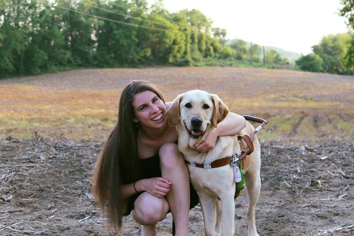 """She described Thai as smart and full of energy. She would rather have a mischievous guide dog, she said, than a well-behaved one.""""Those are the dogs that cause more trouble,"""" Danielle said. """"Just because they're so smart."""""""