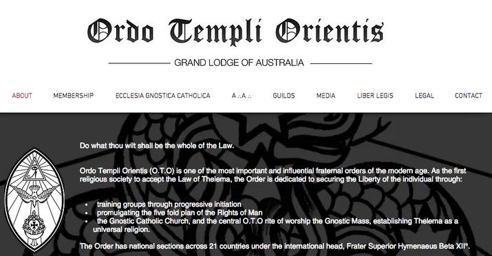 The website for Ordo Templi Orientis in Australia.