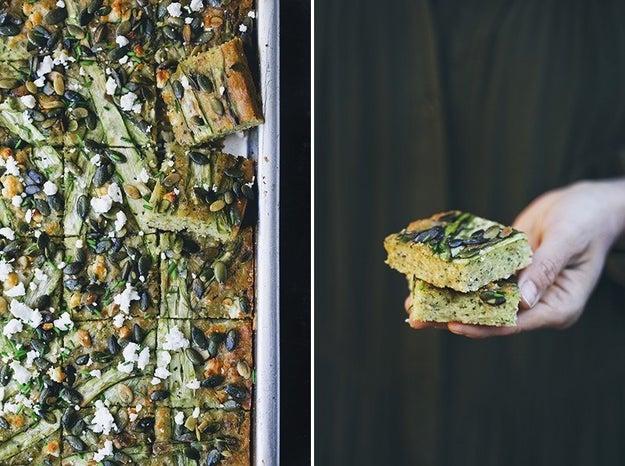 Asparagus and Potato Picnic Bread