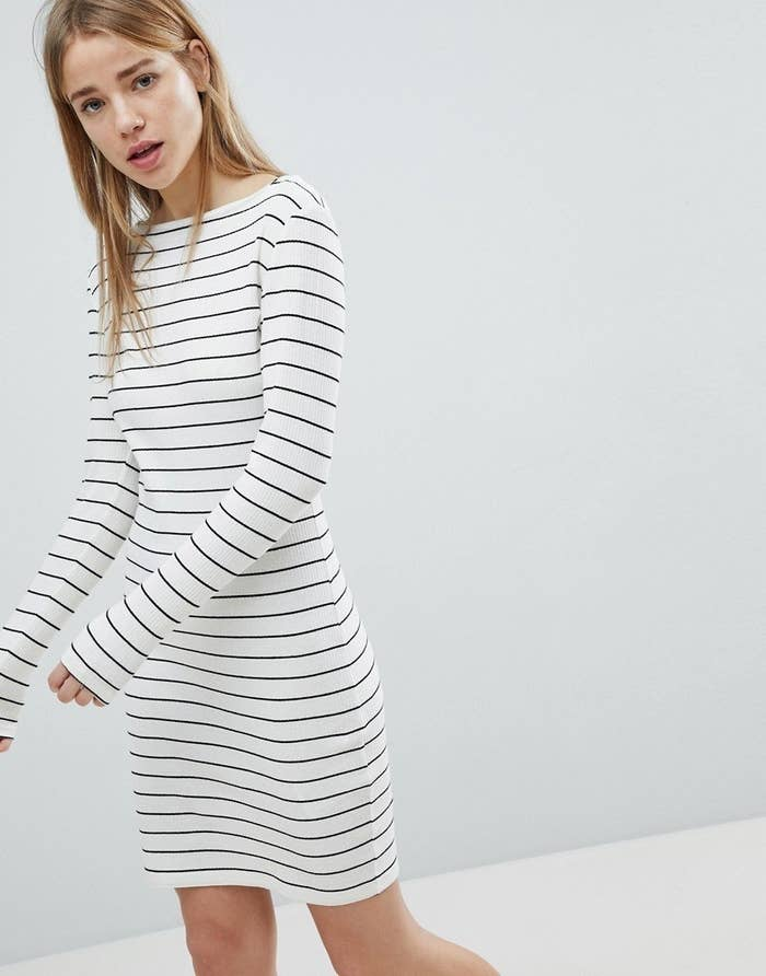 62e9e67c903f A charming striped frock you can style a zillion different ways.