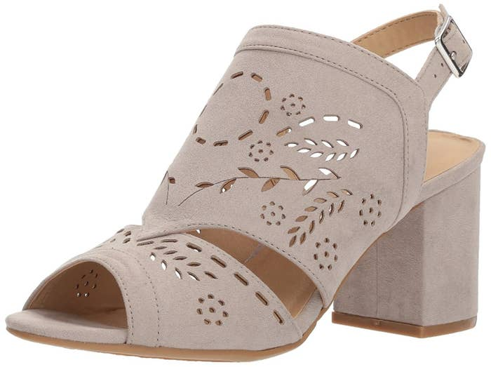597d899875e Laser-cut peep-toe shoes to add a romantic touch to your floaty dresses or  casual cuffed jeans.