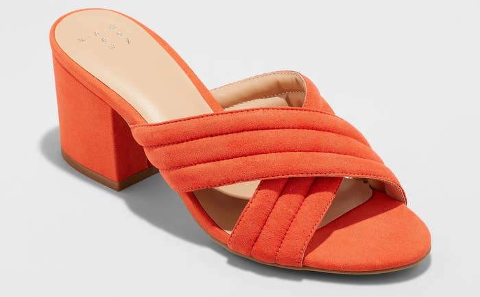 11a3cc6ce92a Bright-hued mules to show off those toes. Orange you glad it s not winter  anymore