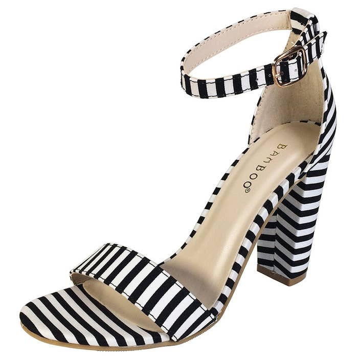1b7ab47f00 A pair of strappy striped heels for adding some pizzazz. Maybe they'll push  you into full-on pattern mixing. (Stripes are a neutral!!!)