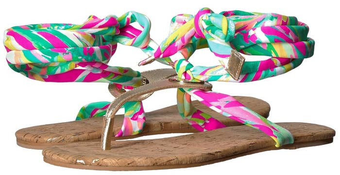 062ed4582 A pair of Lilly Pulitzer sandals you can coordinate with a fun pedicure.