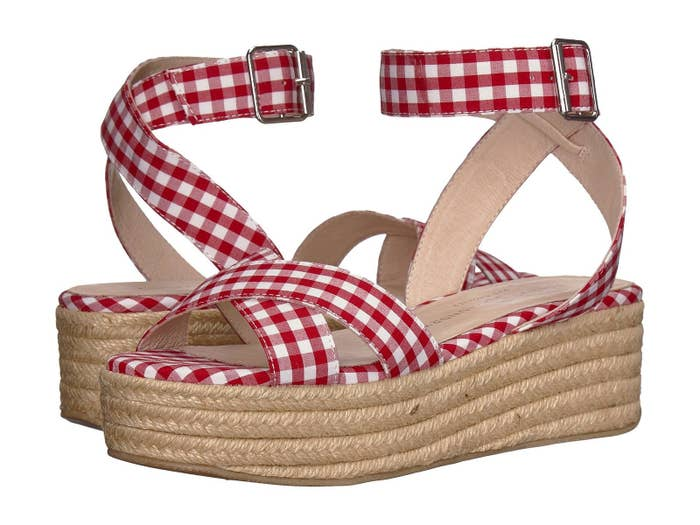 763f5a7d69f Gingham platform sandals that ll inspire you to plan a picnic in the park.