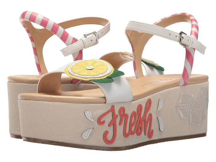 f5cc5bbdeadaf8 Katy Perry lemonade platform sandals just begging to be featured on your  Instagram!