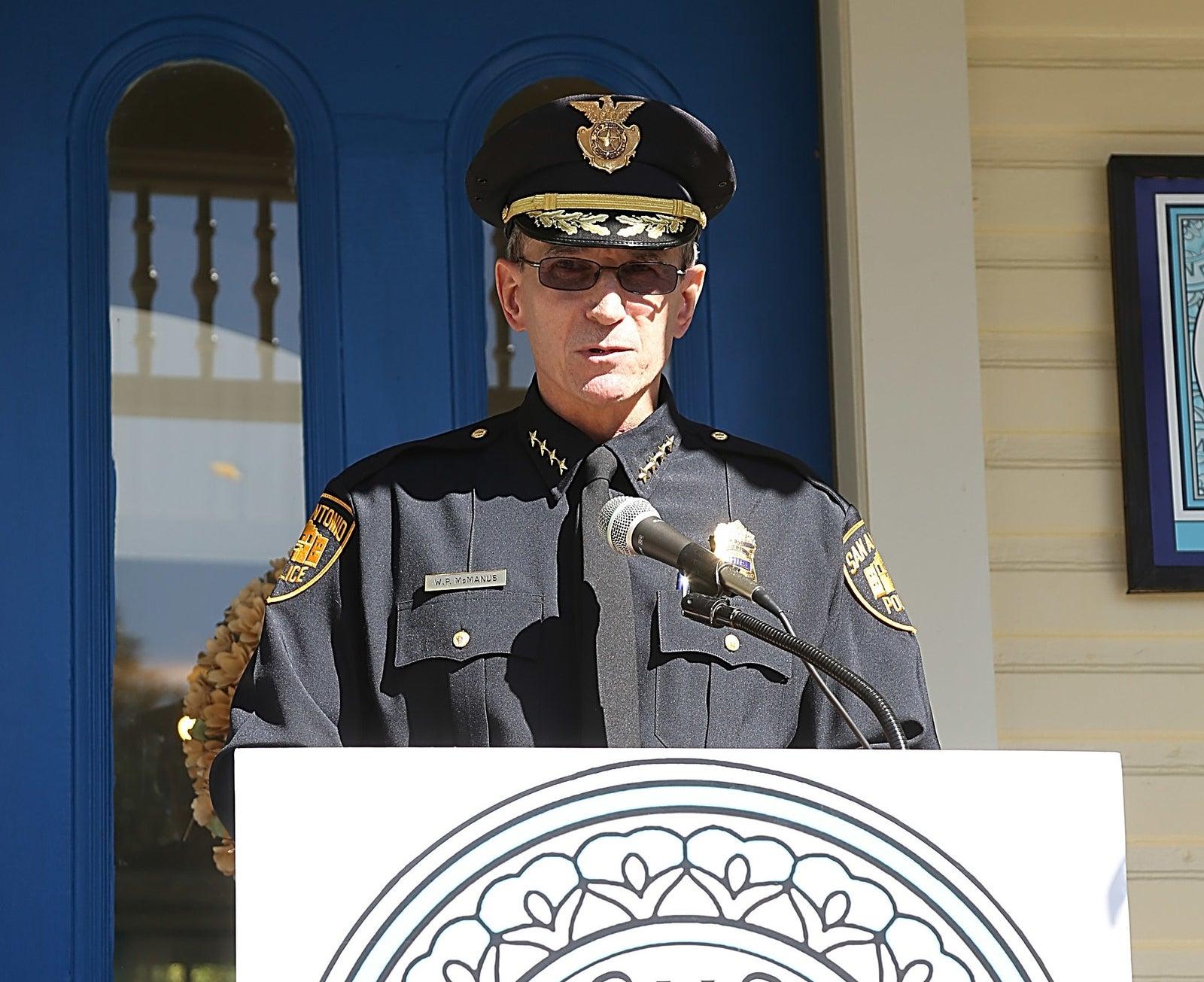 San Antonio Police Department Chief William McManus in San Antonio, 2015.