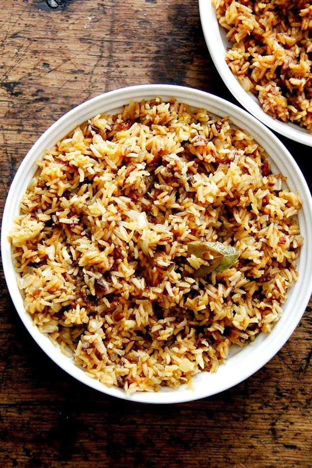 Moroccan Rice With Harissa, Dates, and Orange