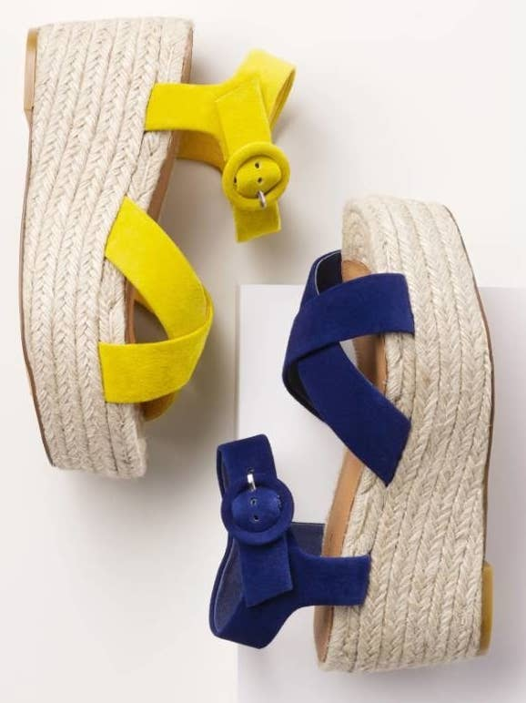 ea7b2fa402791 Bright platform espadrilles to give you plenty of extra height (3 inches —  check you out