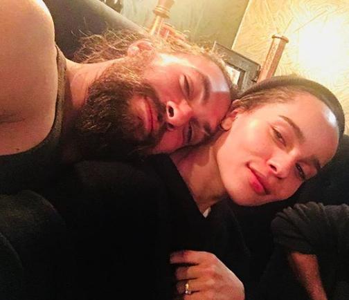 Jason Momoa is Zoë Kravitz's  stepfather : -  The  Justice League  and  Game of Thrones  star is married to legend Lisa Bonet, aka Zoë Kravitz's mom. — chalasanitara