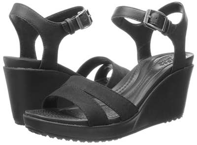 3adc680ae2528 50. Crocs ankle-strap wedges — for the relief of Crocs with the cute look  (and height) of a heel...because while wedges are amazing