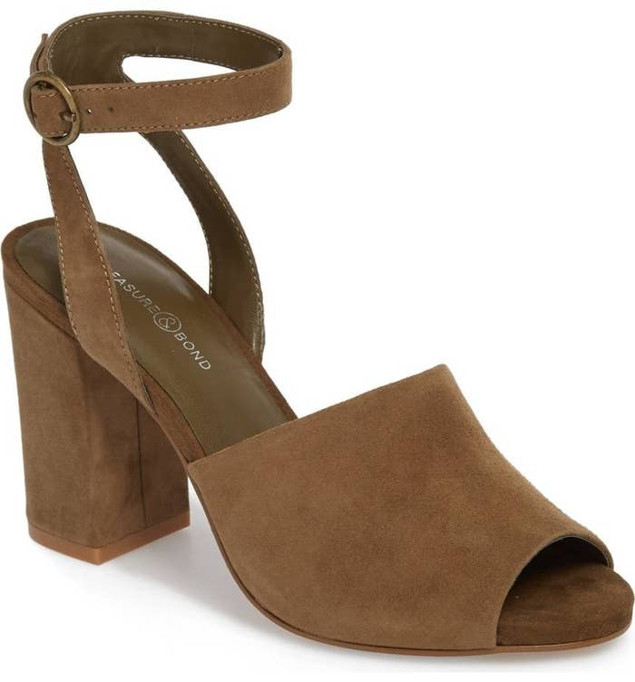 fbe767e3a80d30 A pair of ankle-strap Treasure   Bond heels that ll basically be the  perfect work summer shoe.