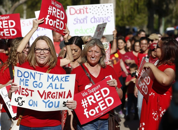 Arizona teachers protest in March