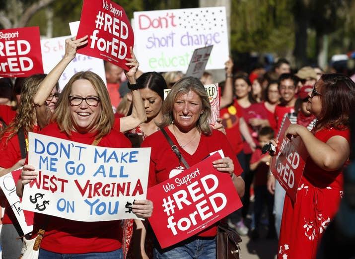 Arizona teachers protest in March