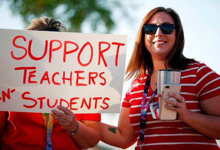Arizona teacher Stefanie Lowe in April.