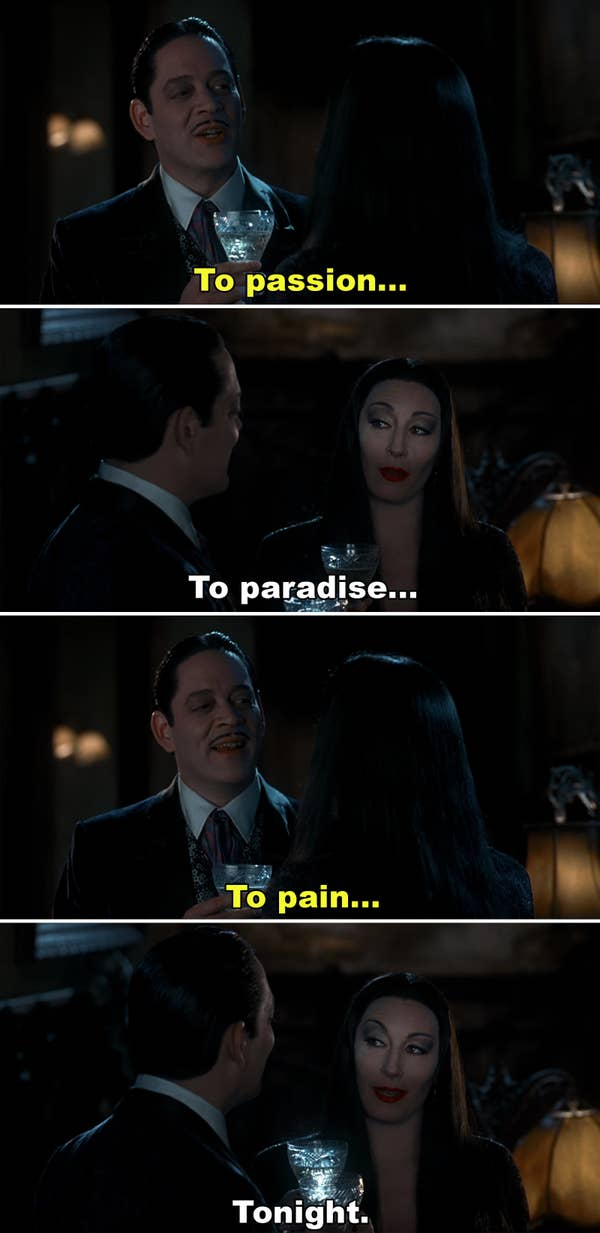 Morticia and Gomez Addams - The Ultimate #relionshipgoals couple.