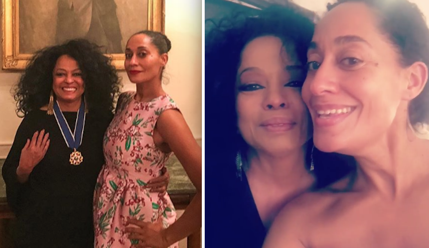 And Tracee Ellis Ross is Diana Ross's  daughter : -  You definitely know Tracee from  Girlfriends  and her Emmy-nominated work in  Black-ish . Icons!