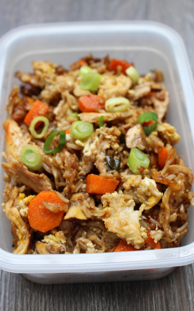 Lunch: Leftover rotisserie chicken fried rice