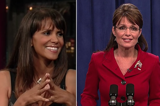And Halle Berry is somehow related to Sarah Palin:
