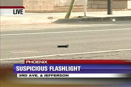 A literal flashlight: