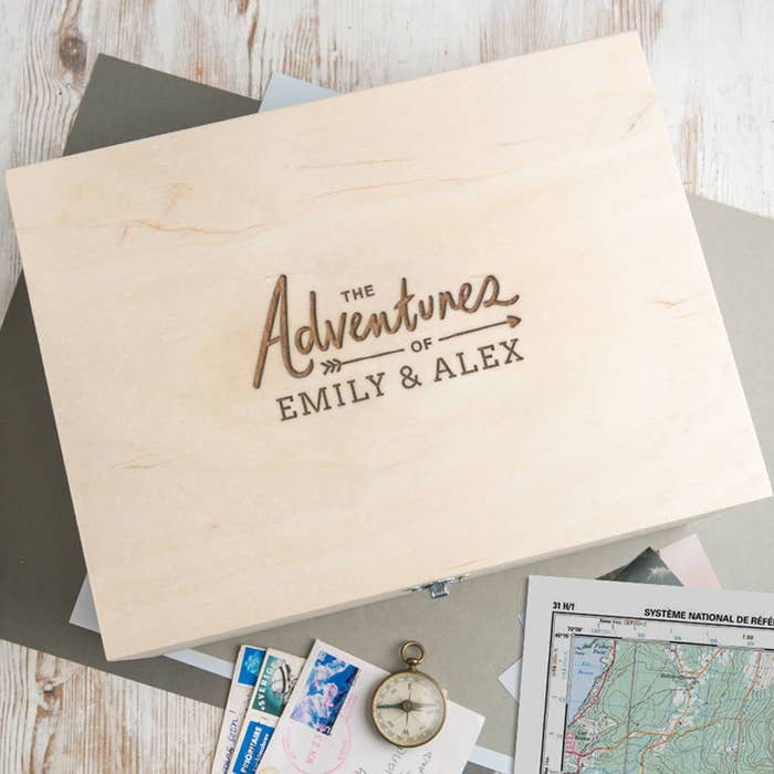 """box that says """"the adventures of emily and alex"""""""