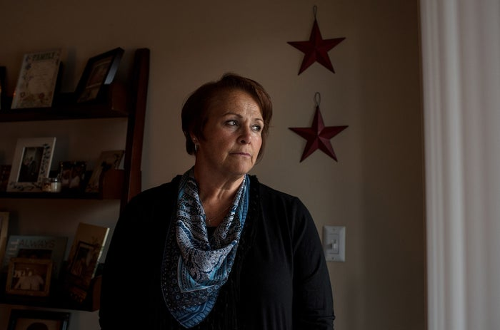 Ann Marie Reinhart, a former employee of Toys 'R' Us, is photographed at her home in North Carolina.