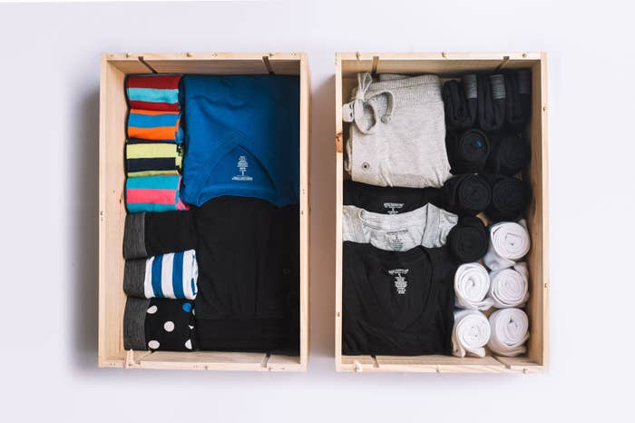 4a0316f5 An entire drawer of clothing — Create-a-Drawer (at Basic Outfitters) lets  you customize a whole drawer with socks, underwear, shirts, and a pair of  ...