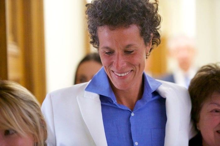 Andrea Constand reacts after Bill Cosby's guilty verdict on April 26, 2018.