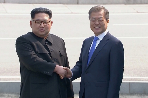 The Leaders Of North And South Korea Just Shook Hands In A Historic Meeting