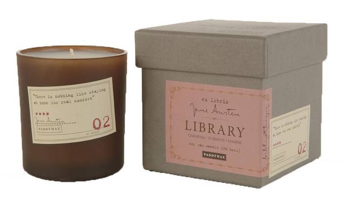 """Candles come in scents named after the author of each candle's quote.Promising review: """"I love the way this candle smells, and it is a quality candle with quality packaging. I bought one as a gift and was so impressed, I bought one for me this time!"""" —TDGet it from Amazon for $23.50 (available in Edgar Allen Poe and Jane Austen)."""