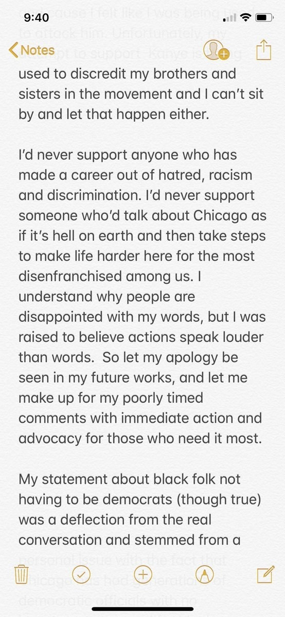 """He went on to make it clear that he does not personally cosign Trump — """"someone who'd talk about Chicago as if it's hell on Earth."""" Chance said he understands why his fans are upset with him over his initial tweets, and he vowed to take """"action"""" from this point on."""