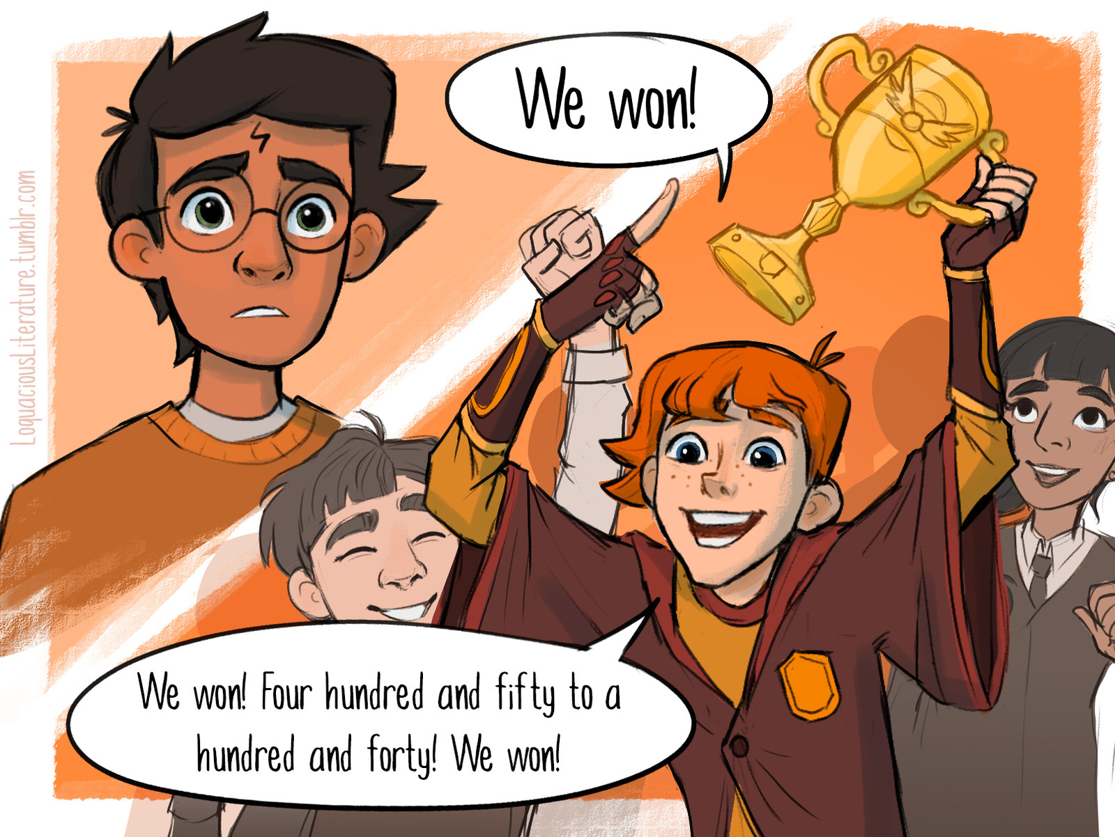 """This Comic Artist Draws Amazing """"Harry Potter"""" Scenes That Didn't Make The Movie"""