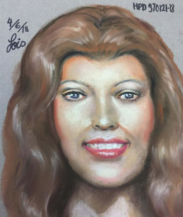 Sketch of the victim in the Texas case.
