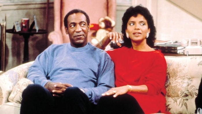 Cosby with Phylicia Rashad on The Cosby Show.