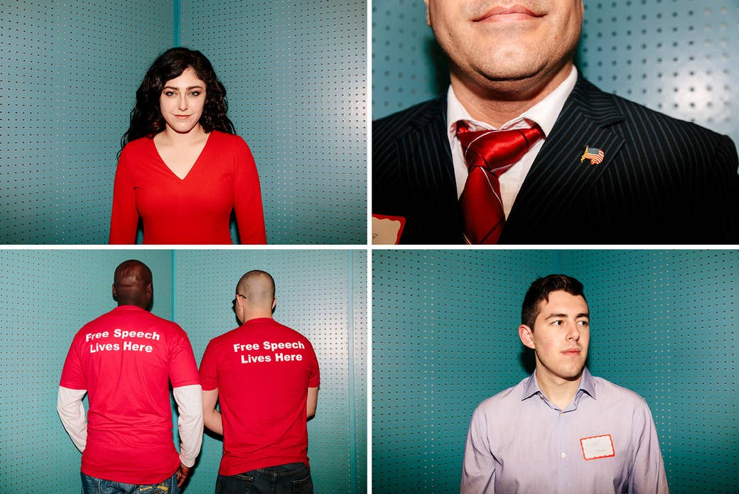 Clockwise from top left: Ariana Rowlands, California College Republicans chair; Efrain Becerra, 32, of the College of the Sequoias and the Central Valley; Michael Gofman, of UC Davis; California State Fullerton students Jason Bonney (left), and Michael Emparan.