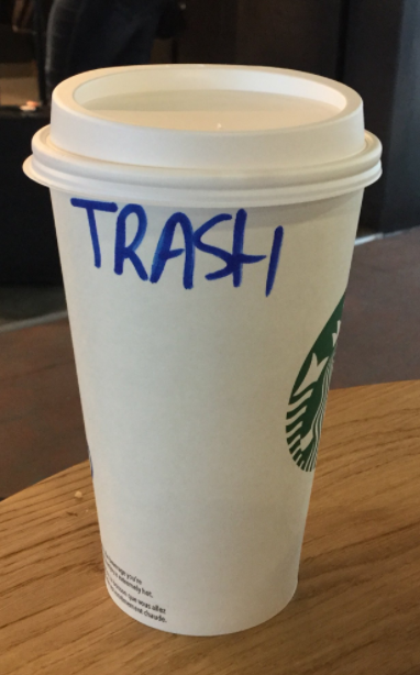 And last but not least, Trish, who received this coffee: