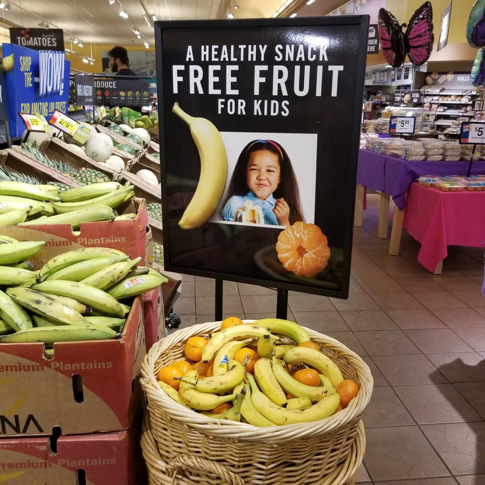 A free produce basket for children