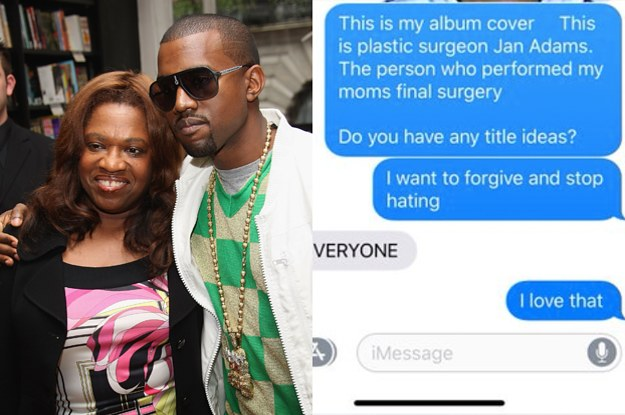 675d96a30cc50 Kanye West Says His Next Album Cover Will Be A Mugshot Of His Late Mother s  Surgeon