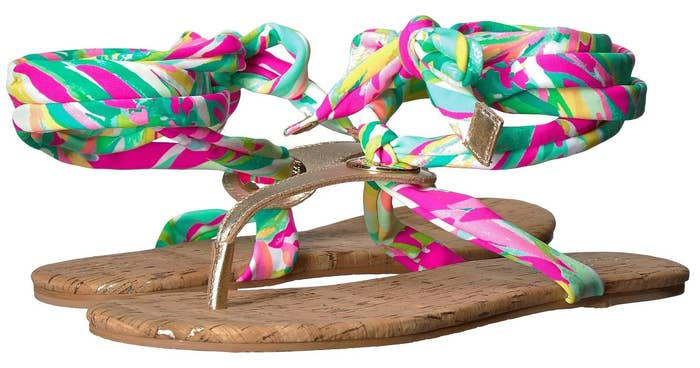 4f57c0175 Lilly Pulitzer sandals you can coordinate with a fun pedicure.