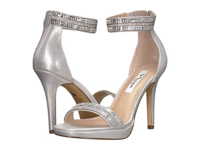962331d55 Crystal embellished ankle strap sandals that ll become your go-to shoes for  wedding season.