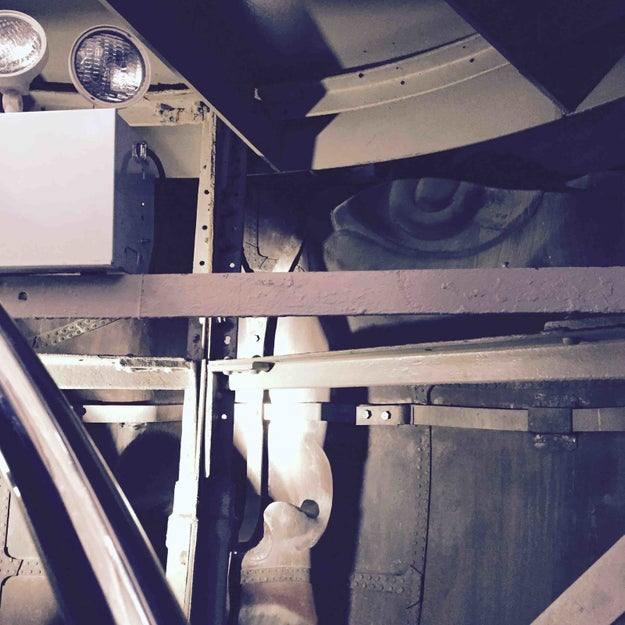 This look at what's going on inside the Statue of Liberty's head.