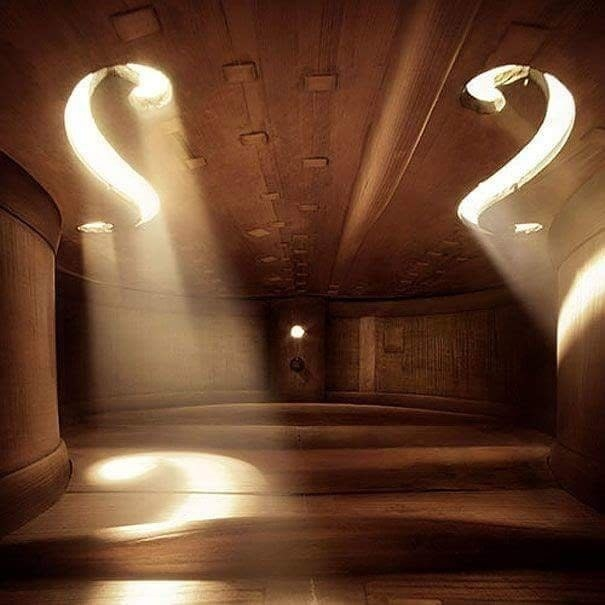 The inside of this violin that looks like a real life auditorium.