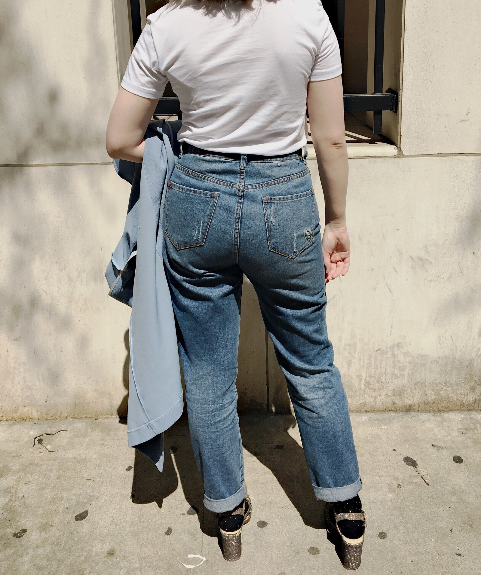 49c93113455 9. Some high-waisted mom jeans that are narrow at the waist and loose at  the hips and might just be a little cooler than the jeans your mom has in  her ...