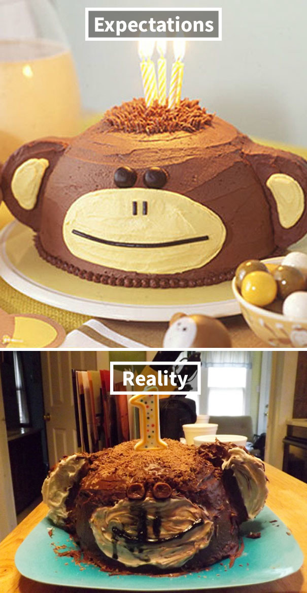 This constipated monkey cake: