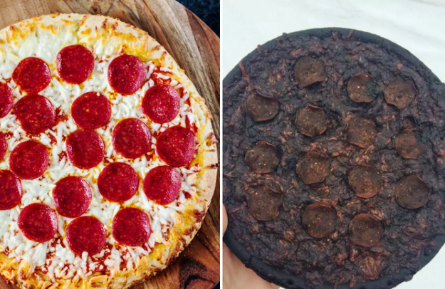 This not-at-all charred pizza:
