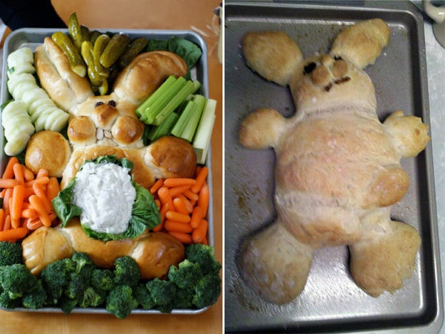This pregnant bunny bread: