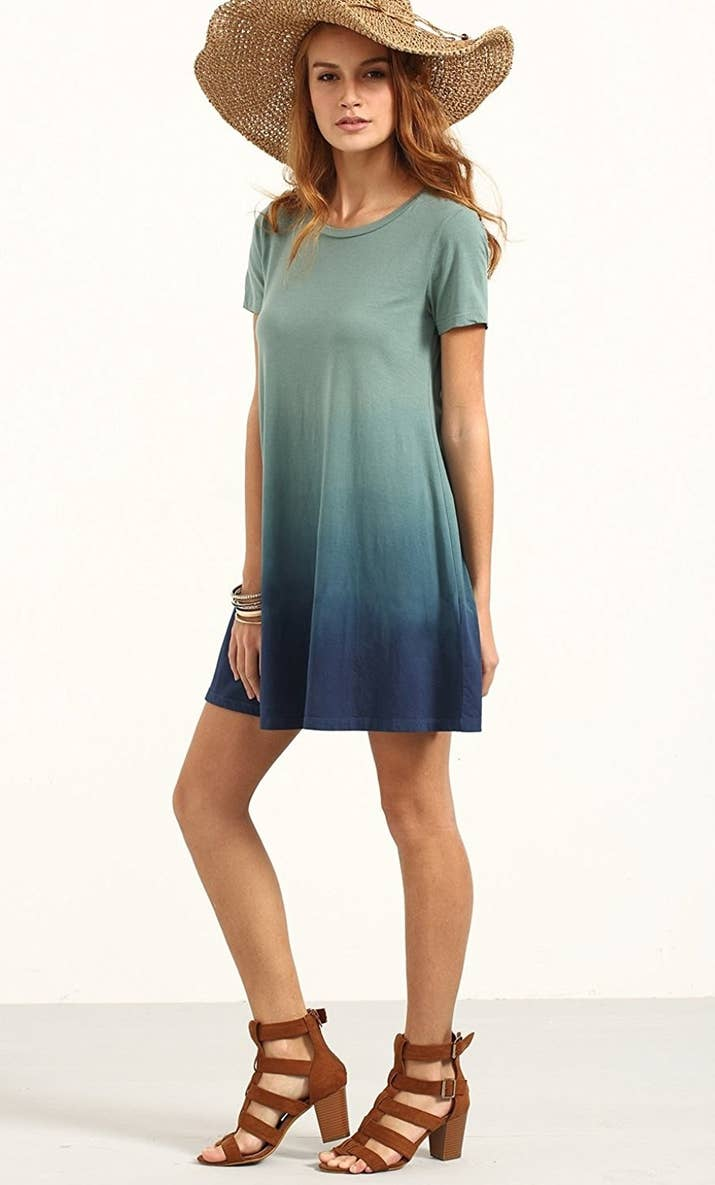 An Ombre Tie Dye Dress So Comfy Your Favorite Tee Will Decide To Retire