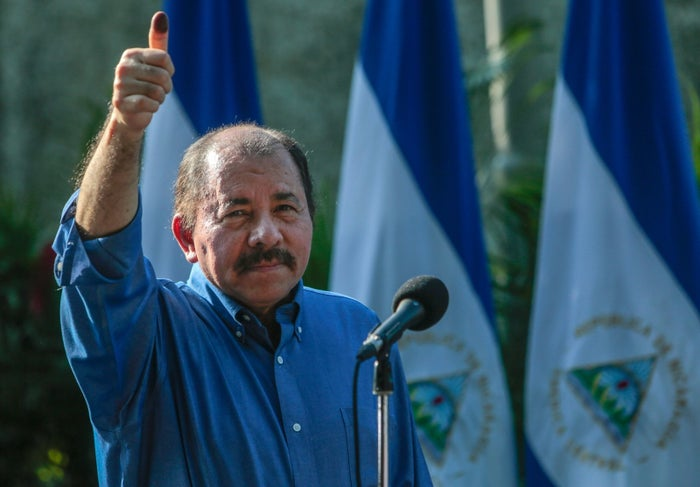 Ortega is actually on his second run as president, having seized power from the country's dictatorship in 1979. Once in power, the Sandinistas declared themselves a Marxist regime, staying in control of the country until Ortega lost the presidency in the 1990 election.