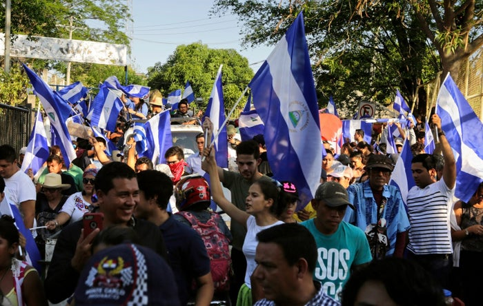 But with many leaders in the country's Catholic Church backing the demonstrators, and the government quick to use the church as an enemy, the protests look unlikely to stop anytime soon.